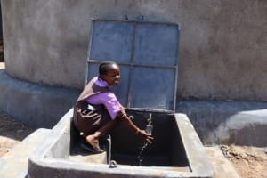 The Water Project: Bahati ADC Primary School -  Collecting Water