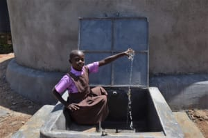The Water Project: Bahati ADC Primary School -  Enjoying Clean Water