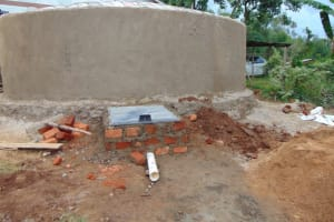 The Water Project: Bahati ADC Primary School -  Manhole Cover Placement