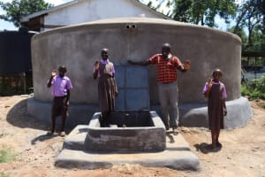 The Water Project: Bahati ADC Primary School -  Posing At The Tank
