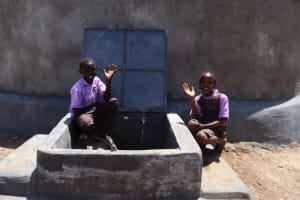 The Water Project: Bahati ADC Primary School -  Pupil Excited At Water Point