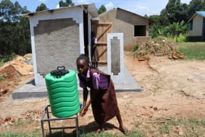 The Water Project: Bahati ADC Primary School -  Using Handwashing Station