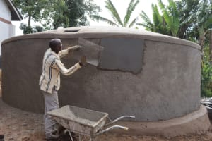 The Water Project: Bahati ADC Primary School -  Wall Rough Casting