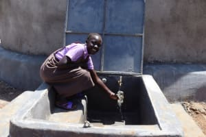 The Water Project: Bahati ADC Primary School -  Collecting Drinking Water