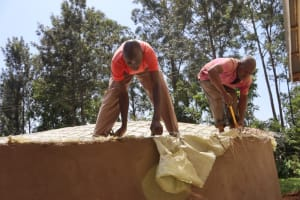 The Water Project: Itabalia Primary School -  Doom Jointing With Wall