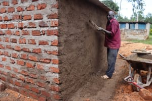 The Water Project: Itabalia Primary School -  Ouside Plaster Done