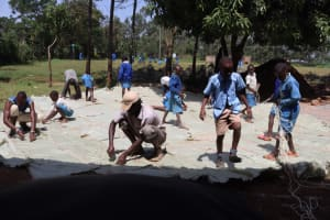 The Water Project: Itabalia Primary School -  Sack Placing On The Doom