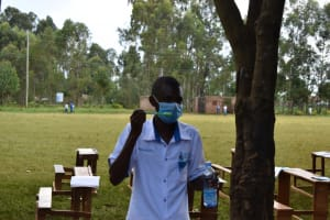 The Water Project: Itabalia Primary School -  Facilitator Demonstrates Dental Hygiene