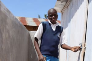 The Water Project: Itabalia Primary School -  Nick Using The Vip Facility