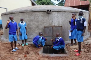 The Water Project: Itabalia Primary School -  Pupils At The Water Point