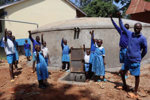 The Water Project: Itabalia Primary School -  Pupils Celebrating Water Point