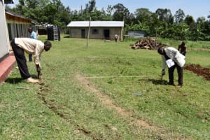 The Water Project: Salvation Army Matioli Secondary School -  Measuring And Marking