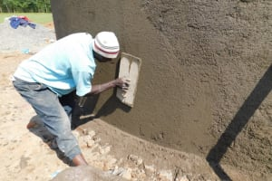 The Water Project: Salvation Army Matioli Secondary School -  Outside Plastering