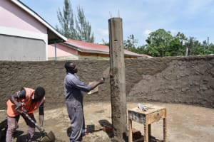 The Water Project: Salvation Army Matioli Secondary School -  Plastering The Pilars