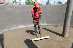 The Water Project: Salvation Army Matioli Secondary School -  Plastering The Floor