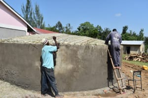 The Water Project: Salvation Army Matioli Secondary School -  Reinforcing The Dome