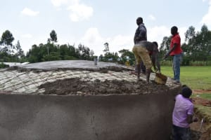 The Water Project: Salvation Army Matioli Secondary School -  Casting The Dome