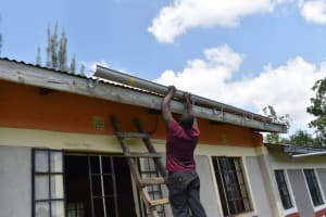 The Water Project: Salvation Army Matioli Secondary School -  Artsan Fixing Gutters