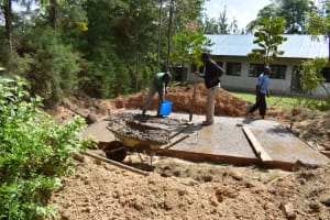 The Water Project: Salvation Army Matioli Secondary School -  Foundation Slab