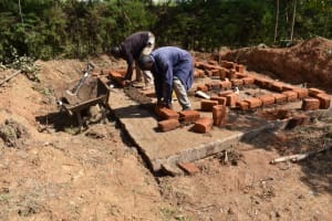 The Water Project: Salvation Army Matioli Secondary School -  Setting The Bricks