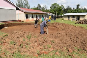 The Water Project: Salvation Army Matioli Secondary School -  Leveling Excavated Site