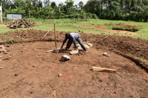 The Water Project: Salvation Army Matioli Secondary School -  Excavated Site With Large Rocks