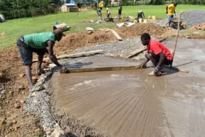 The Water Project: Salvation Army Matioli Secondary School -  Concrete Placement