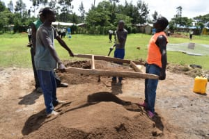 The Water Project: Salvation Army Matioli Secondary School -  Community Members Sift Sand
