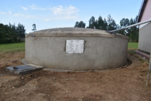 The Water Project: Salvation Army Matioli Secondary School -  Complete Rain Water Harvesting Tank