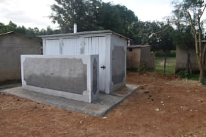 The Water Project: Salvation Army Matioli Secondary School -  Completed Improved Pit Latrine