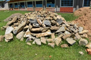 The Water Project: Salvation Army Matioli Secondary School -  Construction Materials Rocks