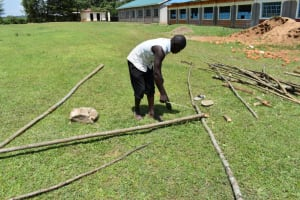 The Water Project: Salvation Army Matioli Secondary School -  Cutting Poles For Reinforcement