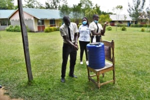 The Water Project: Salvation Army Matioli Secondary School -  Demonstration Of Handwashing