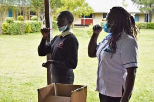 The Water Project: Salvation Army Matioli Secondary School -  Dental Hygiene Demonstration