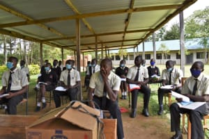 The Water Project: Salvation Army Matioli Secondary School -  Participants Listening
