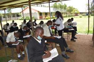 The Water Project: Salvation Army Matioli Secondary School -  Participants Taking Notes At Training