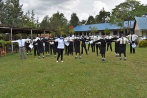 The Water Project: Salvation Army Matioli Secondary School -  Physical Distancing Test