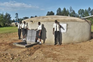 The Water Project: Salvation Army Matioli Secondary School -  Students At The Tank