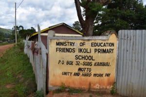 The Water Project: Friends Ikoli Primary School -  Schools Sign