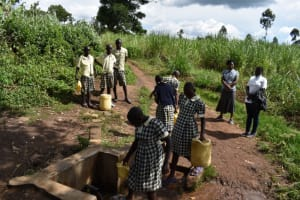The Water Project: Friends Ikoli Primary School -  Students Collecting Water