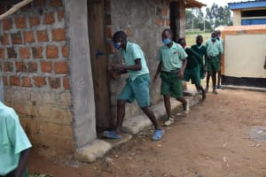 The Water Project: Mutoto Primary School -  Boys Line To Use The Latrines