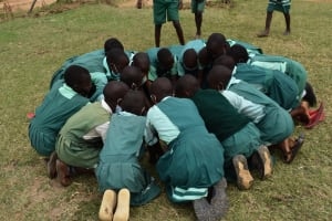 The Water Project: Mutoto Primary School -  Girls Engage In Singing Game