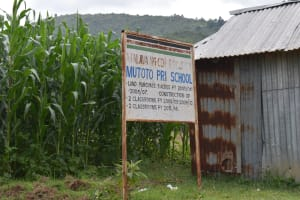 The Water Project: Mutoto Primary School -  Mutoto Primary School Sigpost