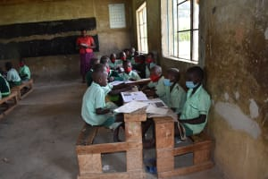 The Water Project: Mutoto Primary School -  Pupils Attending Lesson