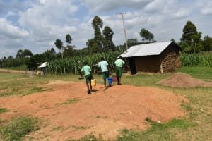 The Water Project: Mutoto Primary School -  Dug Well To The Kitchen