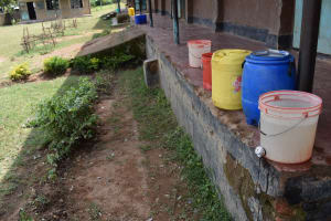 The Water Project: Mutoto Primary School -  Handwashing Stations Used In School