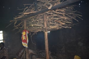 The Water Project: Mutoto Primary School -  Traditional Firewood Storage