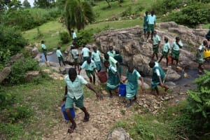 The Water Project: Mutoto Primary School -  Water From Stream To School