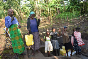 The Water Project: Eshimuli Community, Mbayi Spring -  Cheers And Celebration