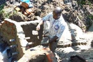 The Water Project: Eshimuli Community, Mbayi Spring -  Construction Of